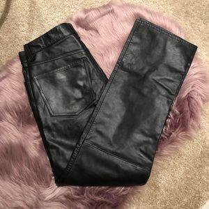 Gap High Rise Leather Pants
